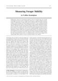 Measuring Forager Mobility - P. Jeffrey Brantingham UCLA