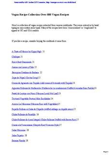 Vegan Recipe Collection Over 800 Vegan Recipes - Alternativa Forum