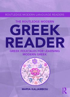 The Routledge Modern Greek Reader: Greek Folktales for Learning Modern Greek