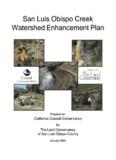 San Luis Obispo Creek Watershed Enhancement Plan (2002)