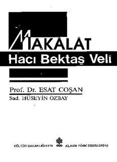 Makalat-ı Hacı Bektaş-ı Veli