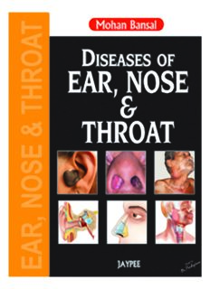 Diseases of Ear, Nose and Throat