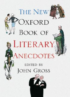 The New Oxford Book of Literary Anecdotes (Oxford Books of Prose & Verse)