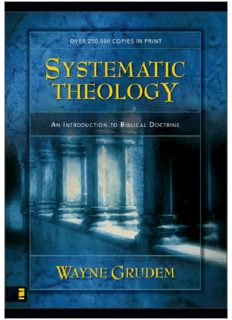 Systematic theology : an introduction to biblical doctrine