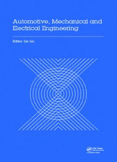 Automotive, mechanical and electrical engineering : proceedings of the 2016 International Conference on Automotive Engineering, Mechanical and Electrical Engineering (AEMEE 2016), Hong Kong, China, 9-11 December 2016