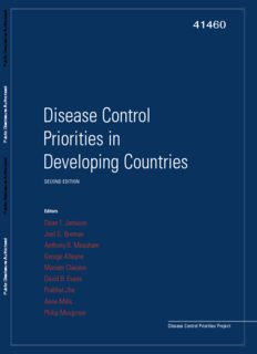 Disease Control Priorities in Developing Countries Editors Dean T. Jamison Joel G. Breman ...