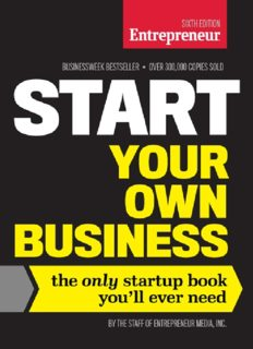 Start Your Own Business, Sixth Edition, The Only Startup Book You'll Ever Need