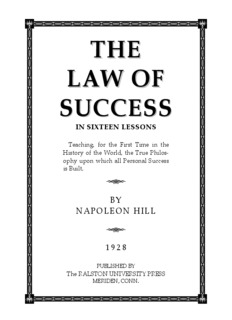 THE LAW OF SUCCESS - Law Attraction Haven