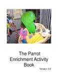 The Parrot Enrichment Activity Book - World Parrot Trust - Saving