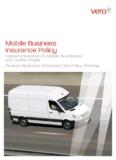 Vero Enterprise Mobile Business Policy PDS - Vero Insurance