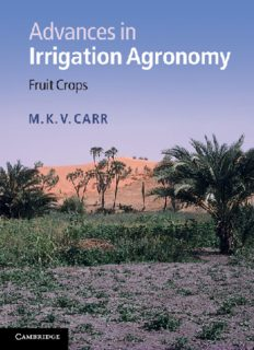 Advances in irrigation agronomy : fruit crops