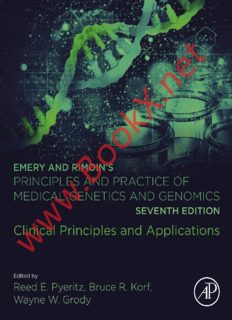 Emery and Rimoin's Principles and Practice of Medical Genetics and Genomics: Clinical Principles and Applications