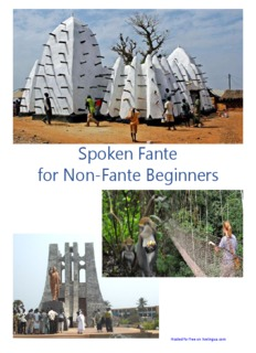 Spoken Fante for Non-Fante Beginners