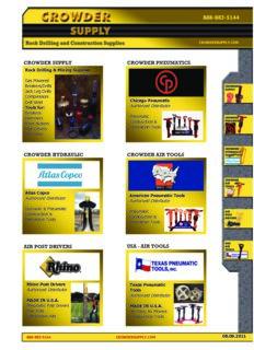 888-883-5144 crowder supply crowder pneumatics crowder hydraulic crowder air tools air post ...