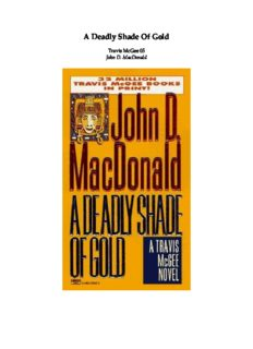 Deadly Shade of Gold (Travis McGee Mysteries)