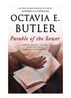 Parable of the Sower - Octavia E. Butler - Simon Technology