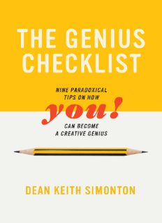 The Genius Checklist: Nine Paradoxical Tips on How You Can Become a Creative Genius