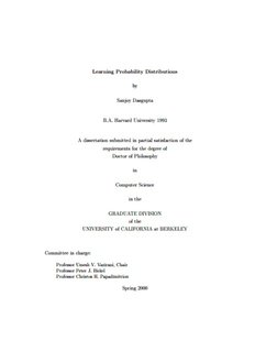 Learning Probability Distributions by Sanjoy Dasgupta - University of