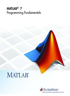 MATLAB 7: Programming Fundamentals