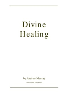 Divine Healing - Andrew Murray - HopeFaithPrayer