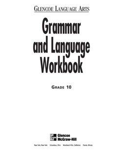 Grammar and Language Workbook - Fullerton Union High School
