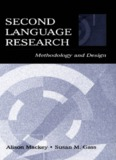 Second language research : methodology and design