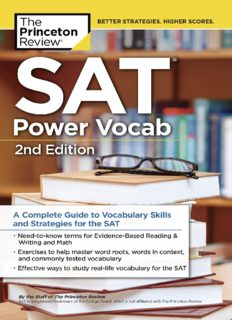 SAT Power Vocab: A Complete Guide to Vocabulary Skills and Strategies for the SAT