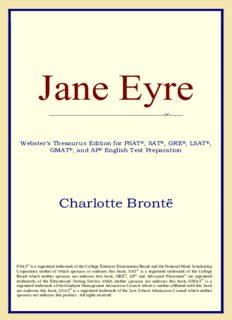 Jane Eyre (Webster's Thesaurus Edition)