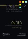 Matemáticas básicas para economistas: Cálculo