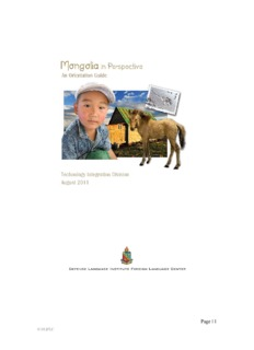 Mongolia in Perspective