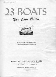 Boats You Can Build