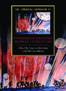 The Cambridge Companion to Twentieth-Century Russian Literature (Cambridge Companions to Literature)