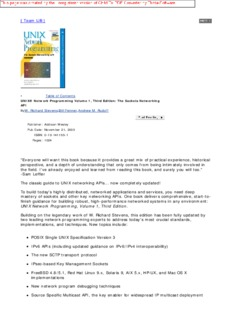 Unix Network Programming, Vol. 1