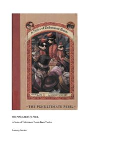 Lemony Snicket - A Series of Unfortunate Events 12 - The Penultimate Peril2