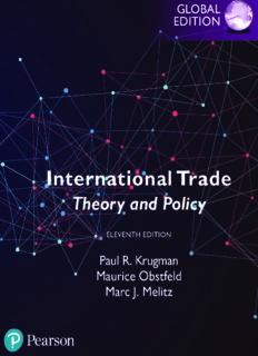 International trade : theory & policy