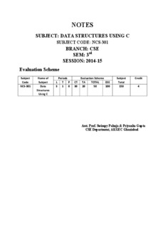 data structure using c notes pdf