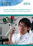 Optometry and Vision Science Handbook - Department of Optometry