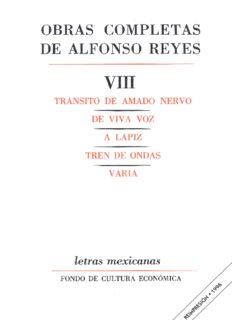 Obras completas de Alfonso Reyes VIII