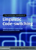 The Cambridge Handbook of Linguistic Code-switching (Cambridge Handbooks in Language