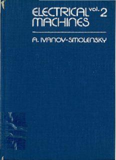 Electrical Machines , Vol. 2