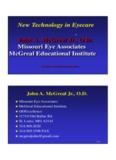 John A. McGreal Jr., O.D. Missouri Eye Associates McGreal