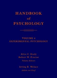 Handbook of Psychology, Volume 4: Experimental Psychology