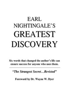 EARL NIGHTINGALE'S GREATEST DISCOVERY - As A Man Thinketh