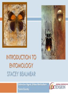 introduction to entomology stacey bealmear