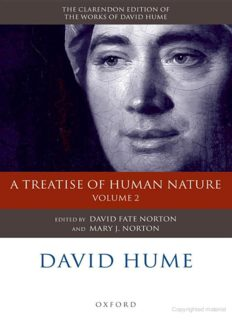 David Hume: A Treatise of Human Nature Volume 2: Editorial Material (Clarendon Hume Edition Series)