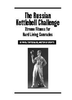 Pavel Tsatsouline - Russian Kettlebell Challenge.pdf