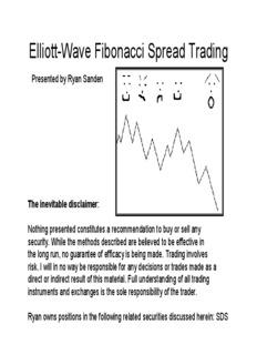 Elliott-Wave Fibonacci Spread Trading - Ryan Sanden