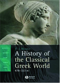 A History of the Classical Greek World: 478-323 BC (Blackwell History of the Ancient World)