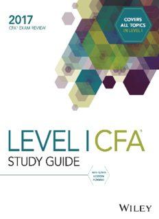 CFA 2017 Level I - Study Guide Volume 4
