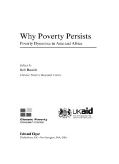 Why Poverty Persists: Poverty Dynamics in Asia and Africa